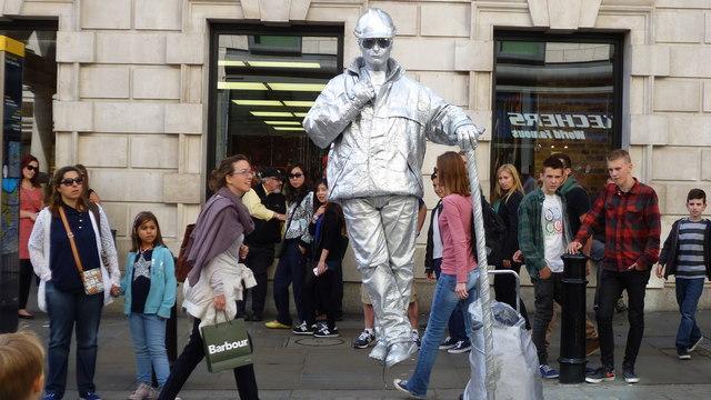 Street scene in Covent Garden, London in August
