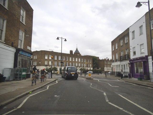 Copenhagen Street at the junction of Cloudesley Road