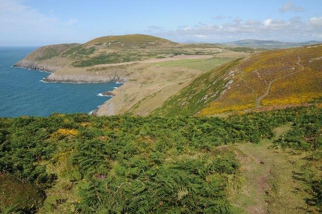Coast path above Porth Llanllawen