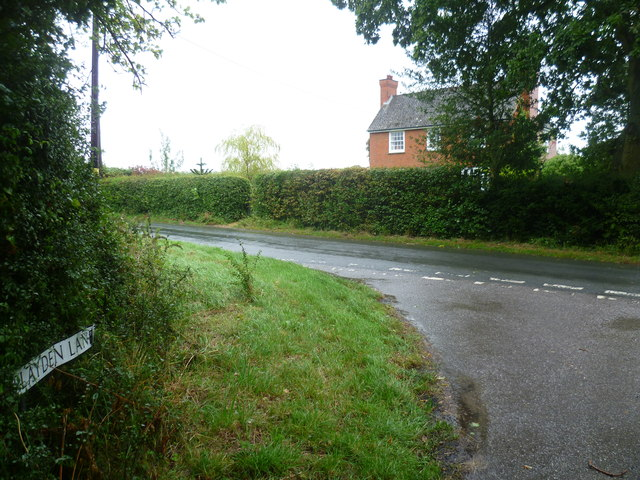 The end of Playden Lane