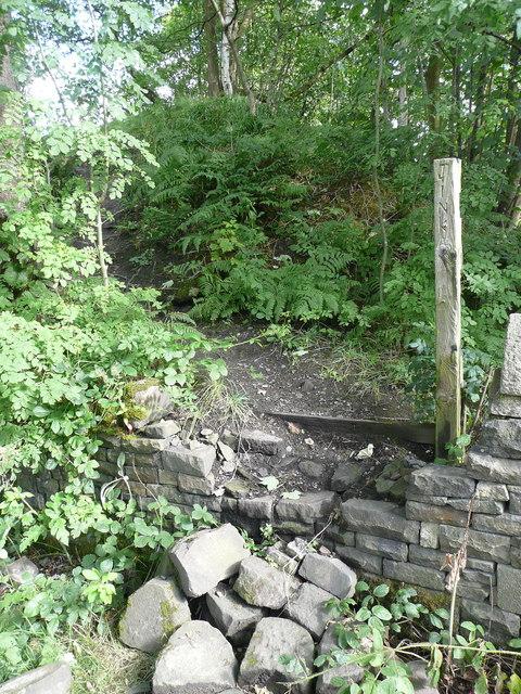 Strange inscription on a post off Carr Lane