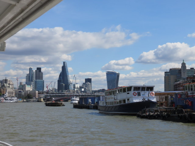 A London skyline from the River Thames