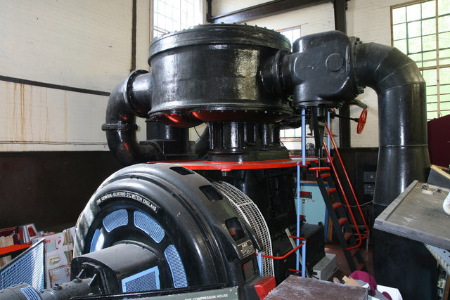 Cefn Coed Colliery Museum - air compressor