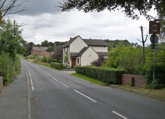 Newton Road at the Dale Brook bridge