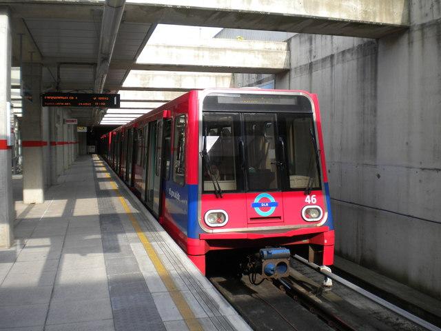 Docklands Light Railway train at Stratford International