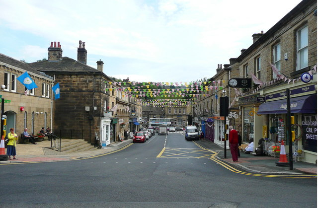 Victoria Street, decorated for the Tour-de-France
