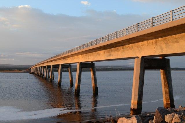 Dornoch Firth Bridge in the Evening