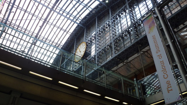 The clock in St Pancras railway station