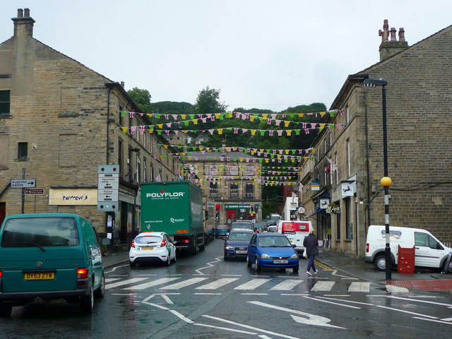 Victoria Street decorated for the Tour-de-France