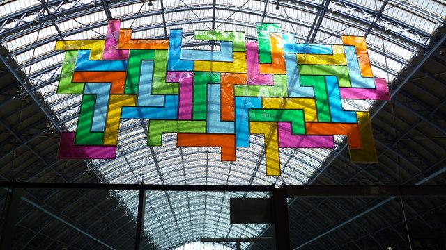 Public art inside St Pancras International