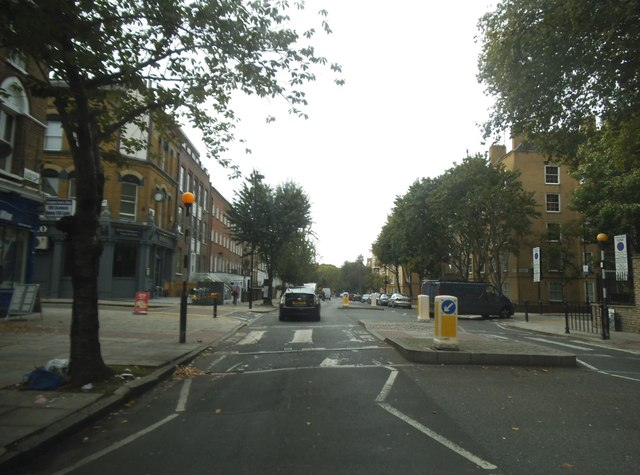 Zebra crossing on Liverpool Road, Islington