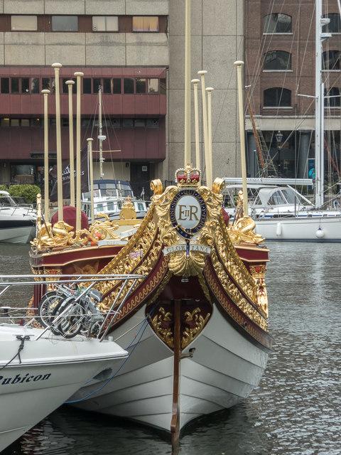 """Gloriana"" at  St Katharine Docks, London E1"