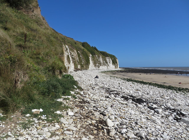 Chalk cliffs, Dykes End