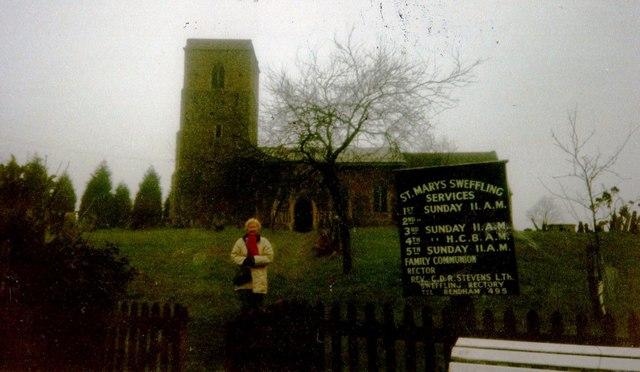 St Mary's Sweffling in 1990