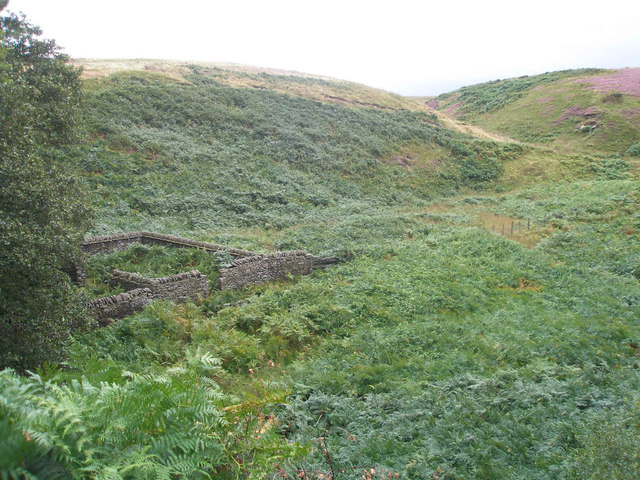 Sheepfolds at Lower Cat Clough