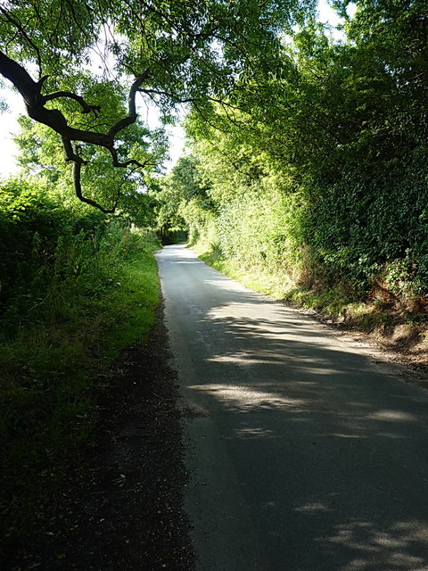 Latherford Lane south of Calf Heath