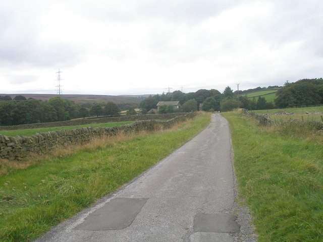 Lane towards Soughley