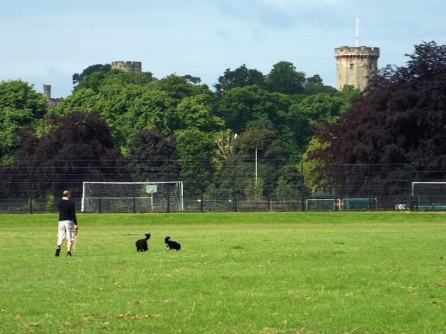 Walking and talking, St Nicholas Park, Warwick