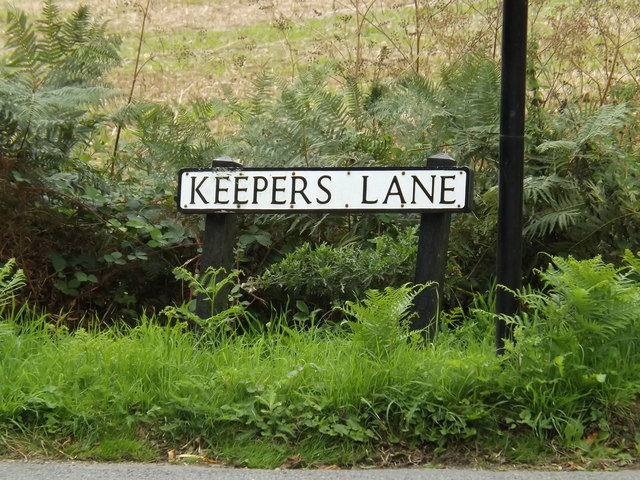 Keepers Lane sign