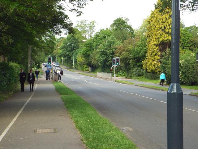 Pelican crossing near Myton School, Myton Road, Warwick