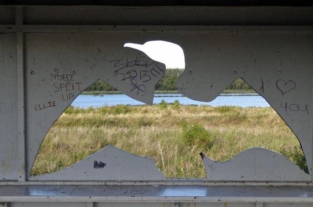 The Cormorant hide RSPB Old Moor