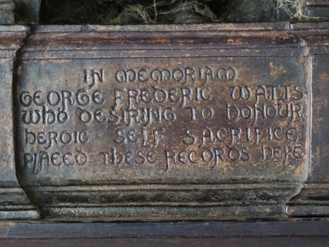 Memorial to GF Watts, Postman's Park, EC1 (2)