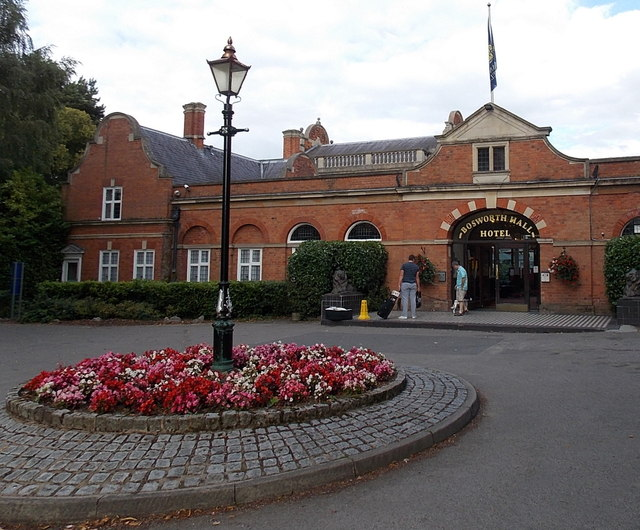 Main entrance to the Bosworth Hall Hotel, Market Bosworth