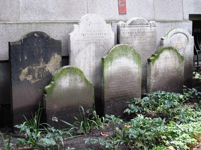 Postman's Park, EC1 - gravestones
