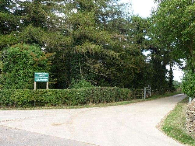Entrance to Westwell Farms Ltd's Downs Farm