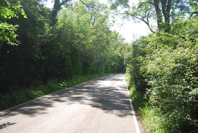 The road west from Markbeech