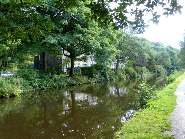 The Rochdale Canal at Height Wood