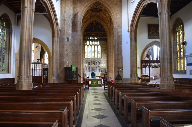 Interior, St Mary's church, Ilminster