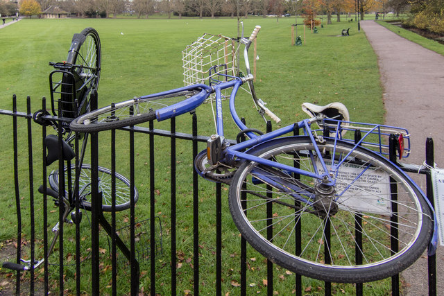 Abandoned Bicycles by Jesus Green