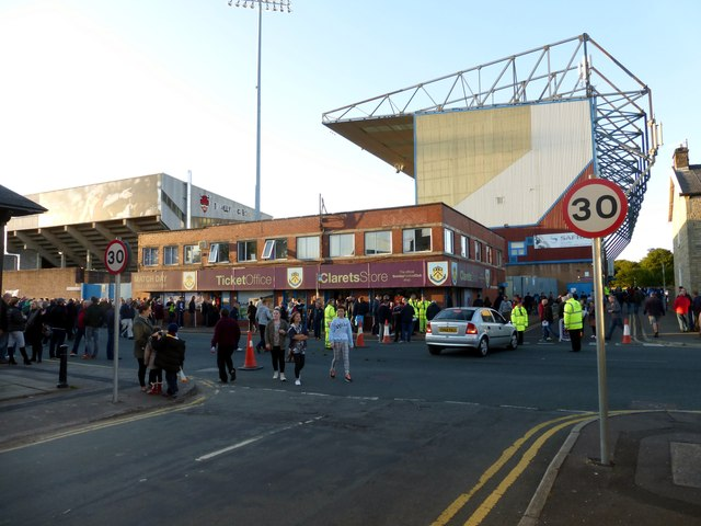 Turf Moor ticket office and club shop