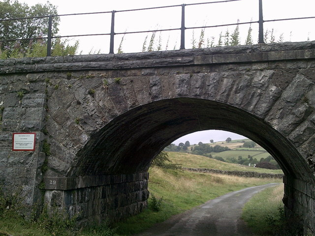 Road under the railway line south-west of Ings