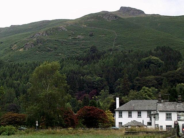 Stone Arthur overlooking Grasmere village
