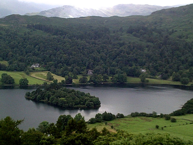 Looking down on Grasmere (lake)