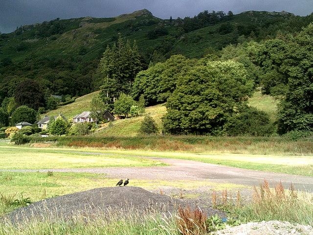 Grey Crag in shadow above Grasmere