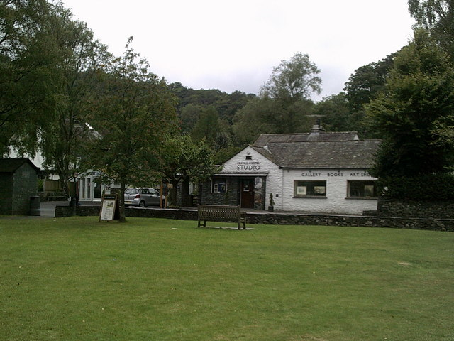 "Grey day at ""The Green"", Grasmere"