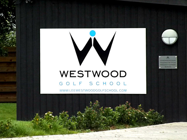 Lee Westwood Golf School sign