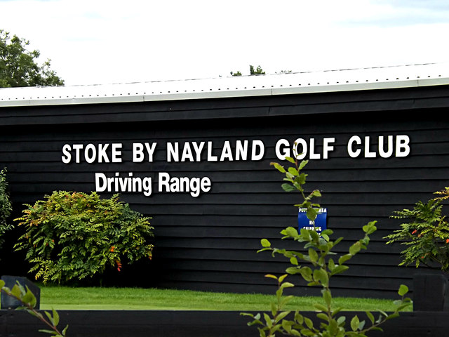 Stoke By Nayland Golf Club Driving Range sign