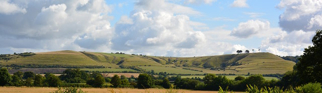 View to Beacon Hill and Oliver's Castle, Rowde, Wiltshire