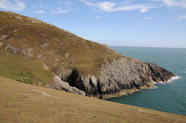 Coast below Mynydd y Gwyddel