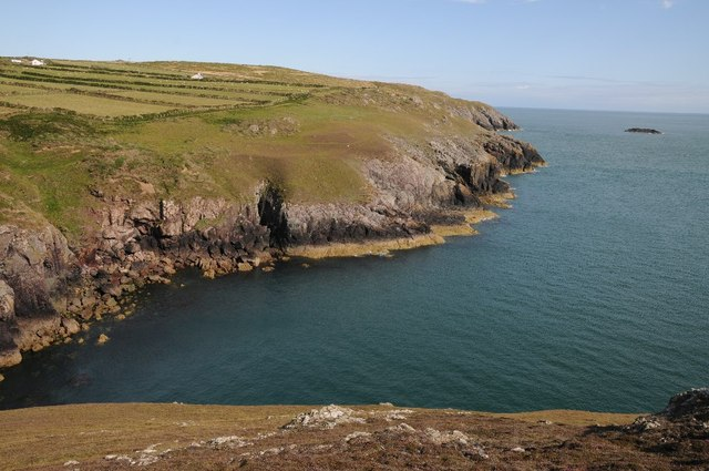 Coastline above Porth Felen