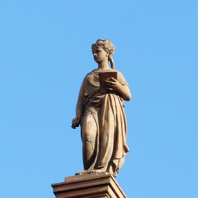 Minerva atop Hyde Library