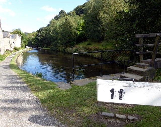 The Rochdale Canal above Hebden Bridge