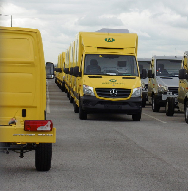Morrisons Home Delivery Vans