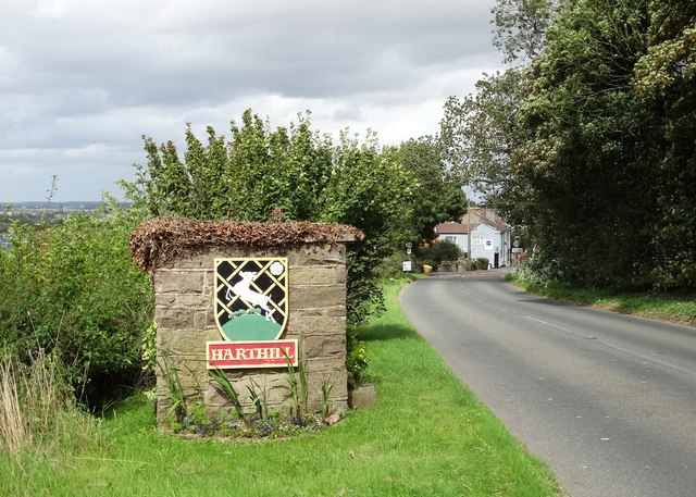 Entering Harthill from the south