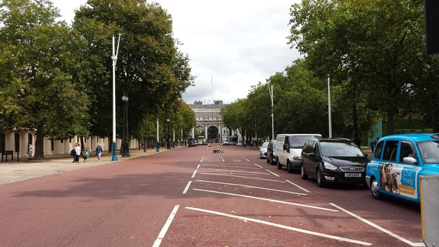 Looking along The Mall