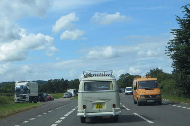 On the A38